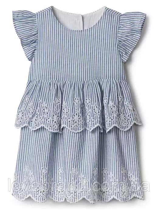 Летнее платье GAP для девочки голубое ОРЫГИНАЛ 12-18 мес/72-81 см