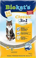 Наполнитель Classic Биокетс Класик 3 в 1 для кошачьих туалетов, 10 л