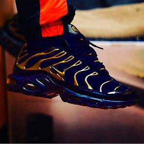 Мужские кроссовки Nike Air Max Tn Plus Black/Gold (Реплика) Остался 41 размер, фото 2
