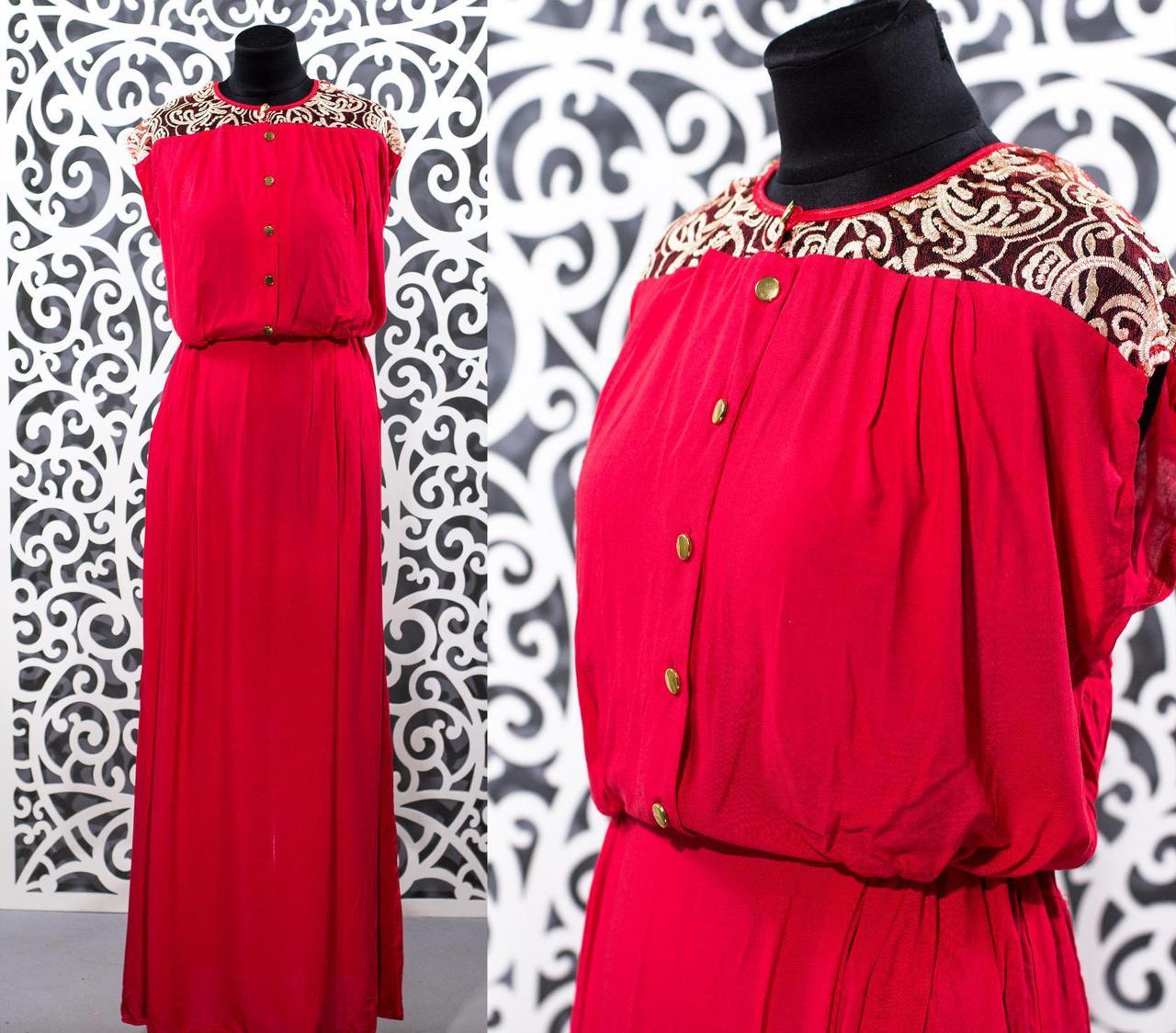 """Шикарное женское платье в пол """"Штапель"""" к 48, 50, 52, 54 размер батал"""