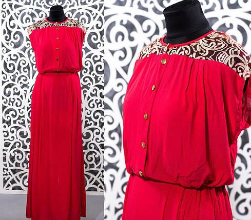 """Шикарное женское платье в пол """"Штапель"""" к 48, 50, 52, 54 размер батал, фото 2"""