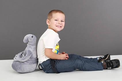 М'яка іграшка Ждун сірий 40 см