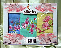 Кухонные полотенца вафельные Sakura Nilteks 3шт
