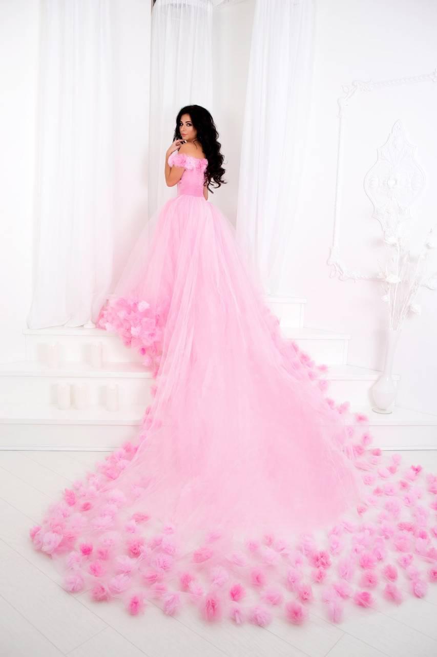 84a0c6eb838b835 Невероятное розовое платье