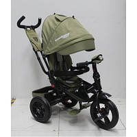 Детский трехколесный велосипед  Azimut Сrosser T-400 TRINITY AIR, хаки