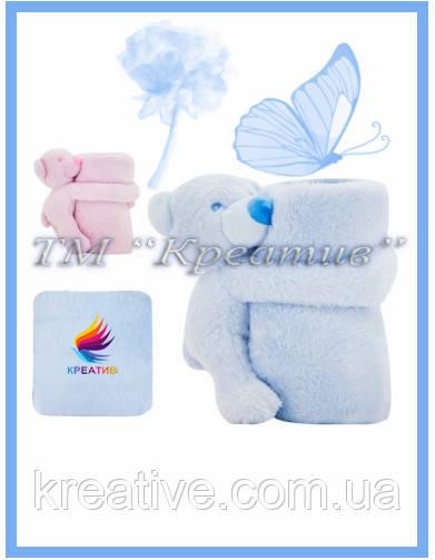 Трансформер 3 в1 (плед, подушка, игрушка) Мишка (от 50 шт.)
