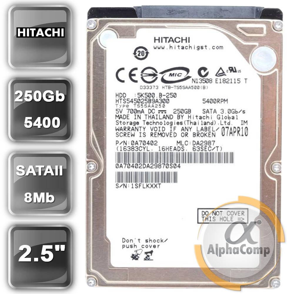 """Жорсткий диск 2.5"""" 250Gb Hitachi HTS545025B9A300 (8Mb/5400/SATAII) БО"""