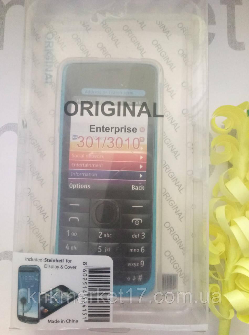 Чохол для Nokia 301/3010 (чорний силікон)