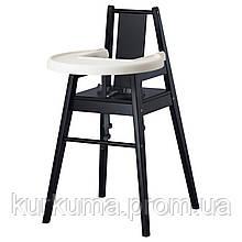 IKEA BLAMES Стульчик для кормления со столешницей, черный  (501.650.79)