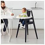 IKEA BLAMES Стульчик для кормления со столешницей, черный  (501.650.79), фото 2