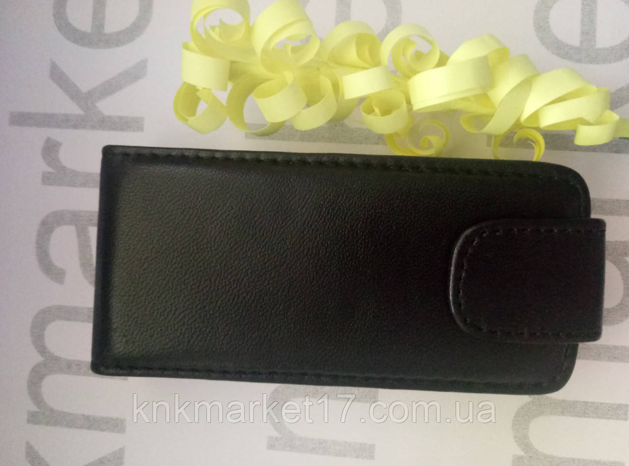 Чохол для Nokia 500 (чорний фліп)