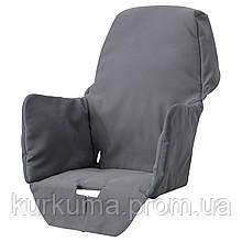 IKEA LANGUR Подушка для стула для кормпления, серая  (703.778.91)