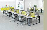 Стол рабочий двухцветный Quattro 1600*700*740h, фото 5
