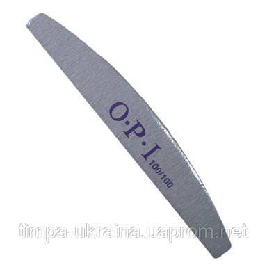 Пилка-полировка OPI серая полумесяц (100х100), фото 2