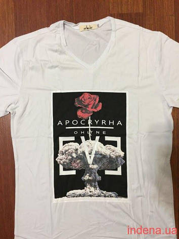 Мужская футболка  Стрейч ТМ  ARBOKLE Арт.68261 (белый), фото 2