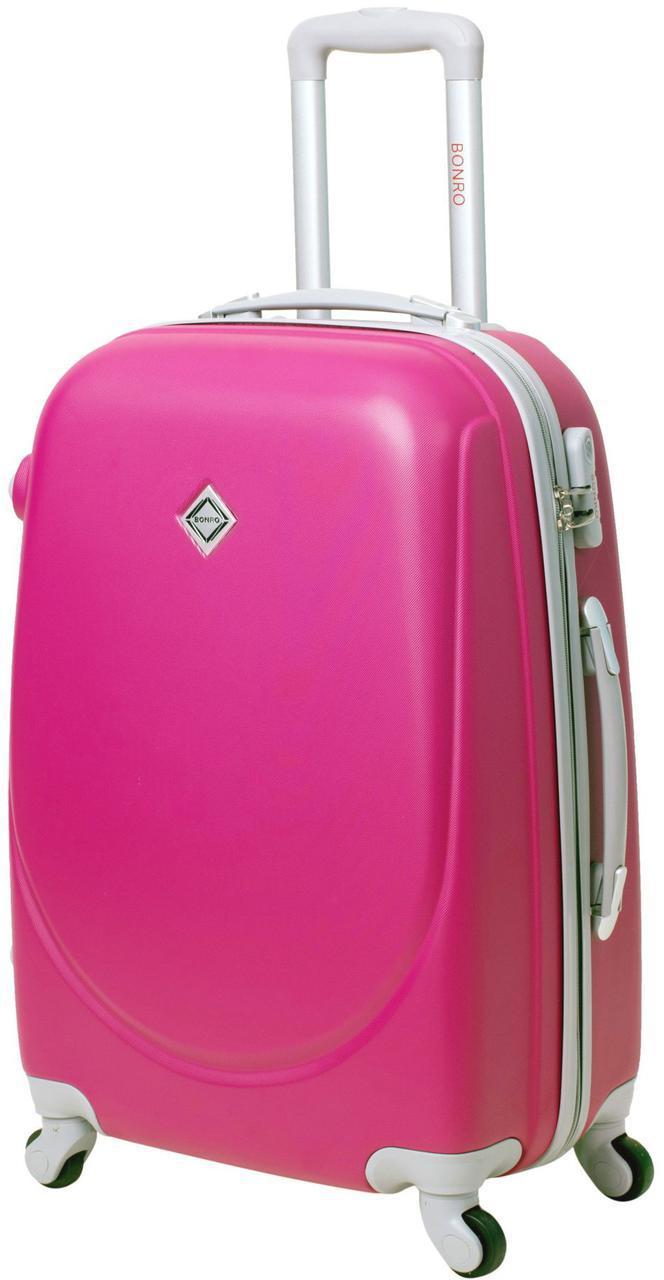 Дорожный чемодан на колесах Bonro Smile Малиновый Небольшой