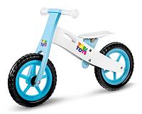 Деревянный велобег детский Tobi Toys ручки с защитой (беговел самокат-беговел детский транспорт)
