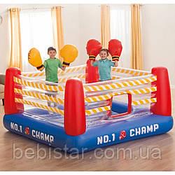 Надувной батут боксерский ринг Intex Jump-O-Lene с боксерскими перчатками