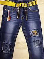 Джинсовые брюки для мальчиков оптом, Seagull, 134-164 рр., арт.CSQ-56850, фото 2