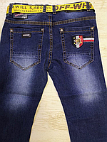 Джинсовые брюки для мальчиков оптом, Seagull, 134-164 рр., арт.CSQ-56850, фото 4