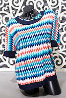 """Модная женская футболка ткань """"масло"""" 54, 56, 58 размер батал"""
