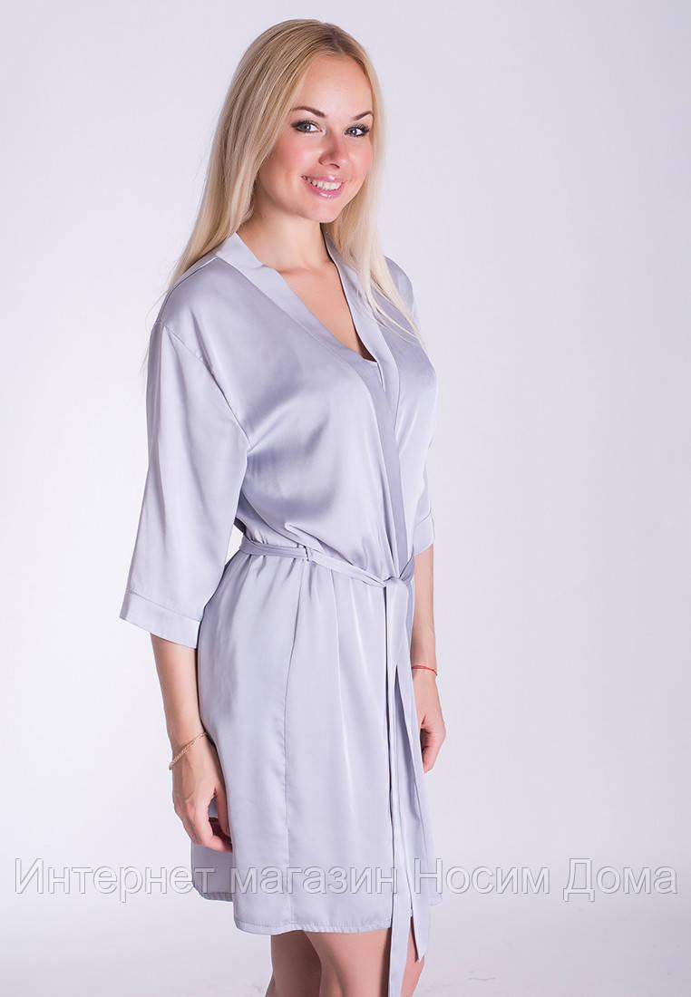11a16ecfcd7cc Однотонный женский халат для дома из шелка Х09п: продажа, цена в ...