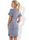 Хлопковое платье с коротким рукавом и поясом Д-1295, фото 2