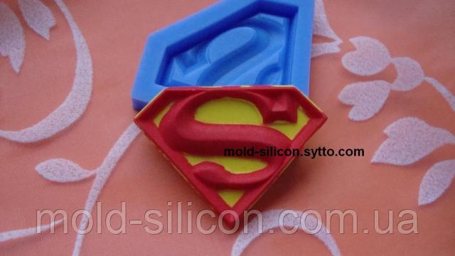 """Силиконовый молд """"Значок супермена"""""""