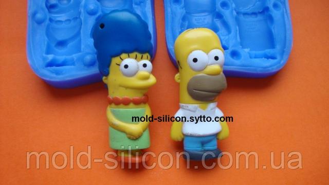 """Силиконовый молд 3Д """"Симпсоны"""""""