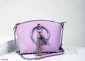 Модная женская лиловая сумка-клатч на цепочке тренд 2018