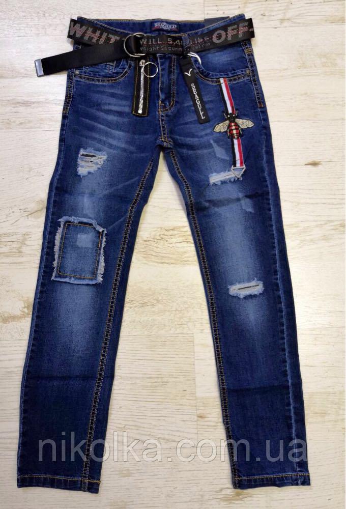 Джинсовые брюки для мальчиков оптом, Seagull, 134-164 рр., арт.CSQ-56849