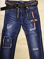 Джинсовые брюки для мальчиков оптом, Seagull, 134-164 рр., арт.CSQ-56849, фото 2