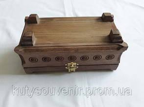 Шкатулка деревянная резьба по дереву ручной работы, фото 2