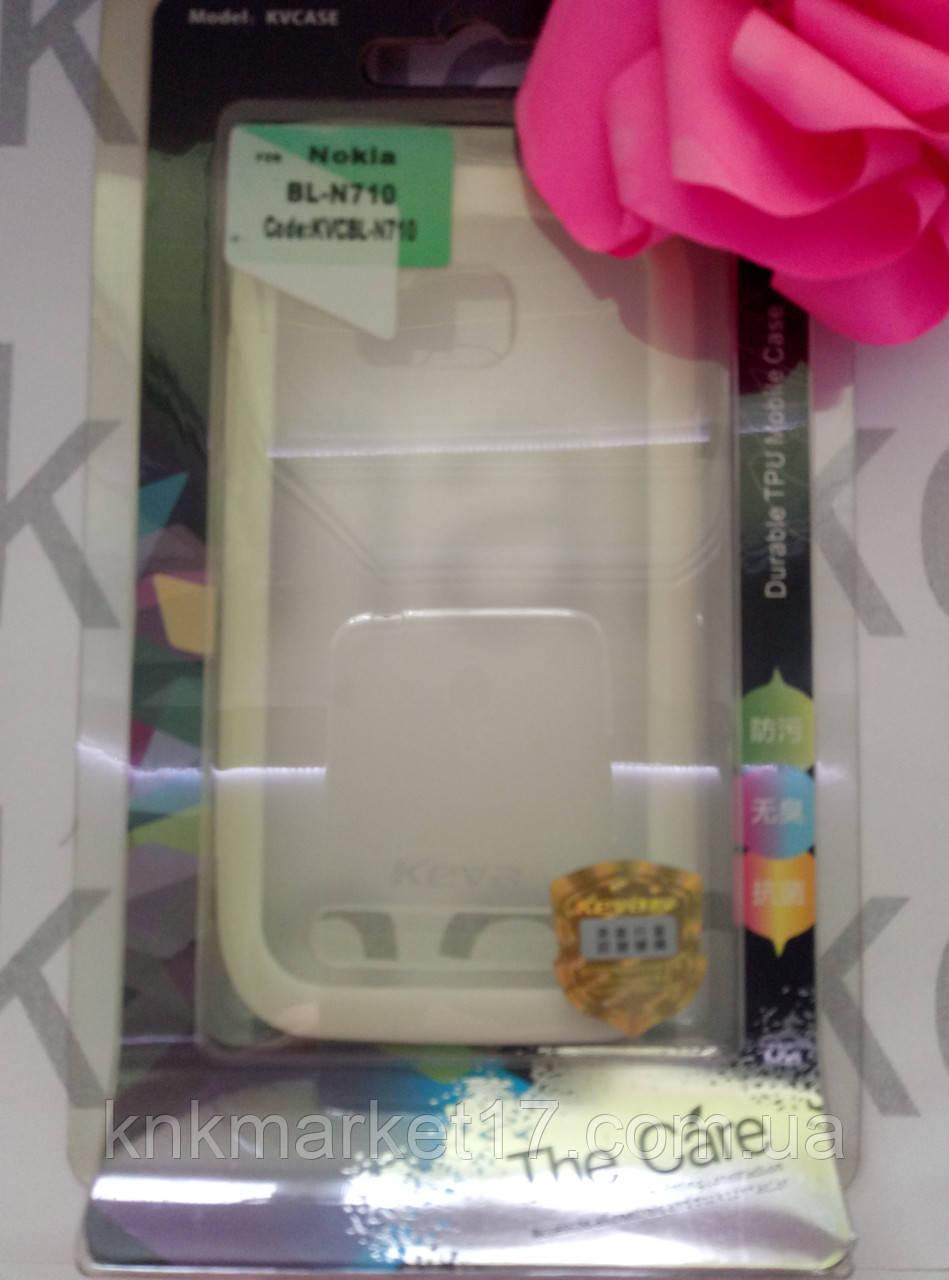 Durable TPU Mobile Case для Nokia N710 (білий силікон)