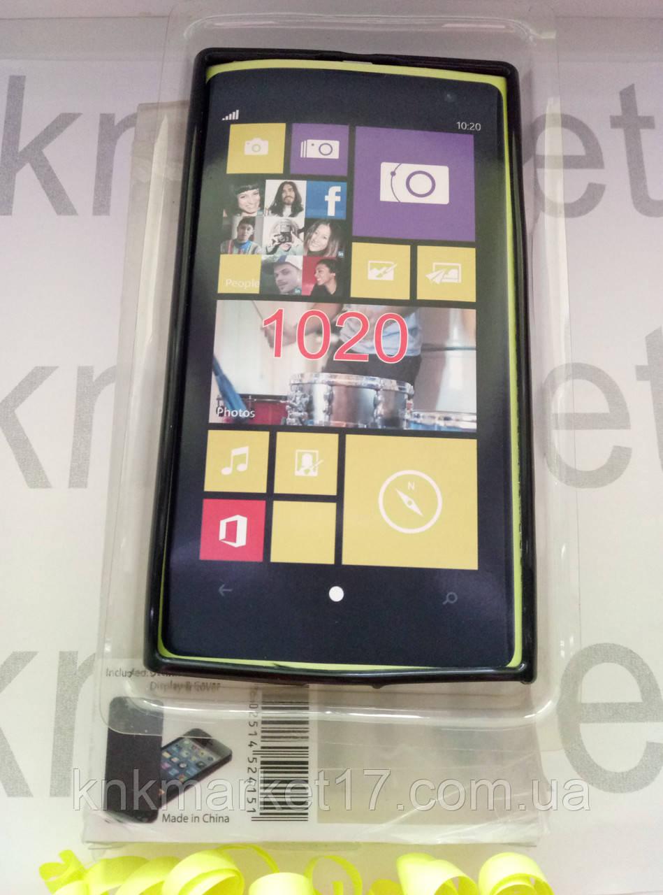 Чохол для Nokia 1020 (чорний силікон)