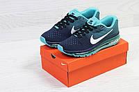 Кроссовки женские Nike Air Max 2017 (синие с мятным), ТОП-реплика, фото 1