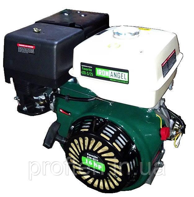 Двигатель бензиновый FAVORITE 420-S25  (16 л.с., ручной стартер, под шпонку Ø25мм, L=63мм)