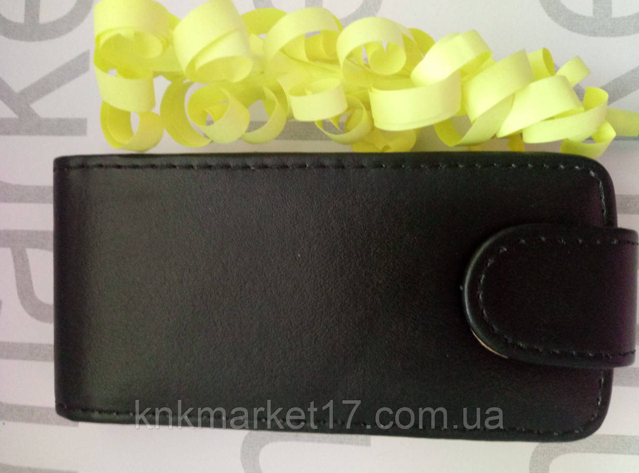 Чохол для Nokia 309 (чорний фліп)