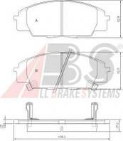 Тормозные колодки дисковые передн. Honda Cіvіc, S2000, 2,0, 99-12, Код 37174, A.B.S.