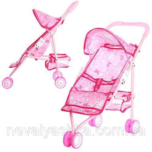Коляска для Кукол Розовая Игрушечная Колясочка, 836A, 007888