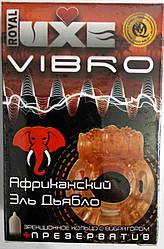 Ерекційне кільце з вібрацією Luxe Африканський Ялина Дьябло