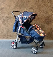 Прогулочная коляска Baby Car 13/Oval D темно-синий+абст.синяя