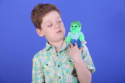 М'яка іграшка Зомбі Майнкрафт minecraft 17 см