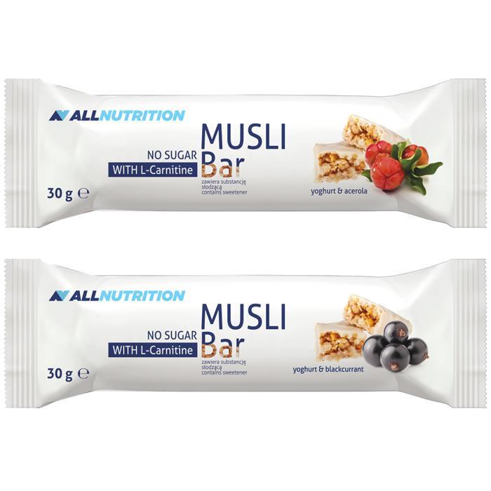 Протеиновые батончики AllNutrition Musli Bar L-carnitine 20x30 g