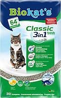 Наполнитель Biokat's Биокетс Classic Fresh 3 в 1 для кошачьих туалетов, 10 л