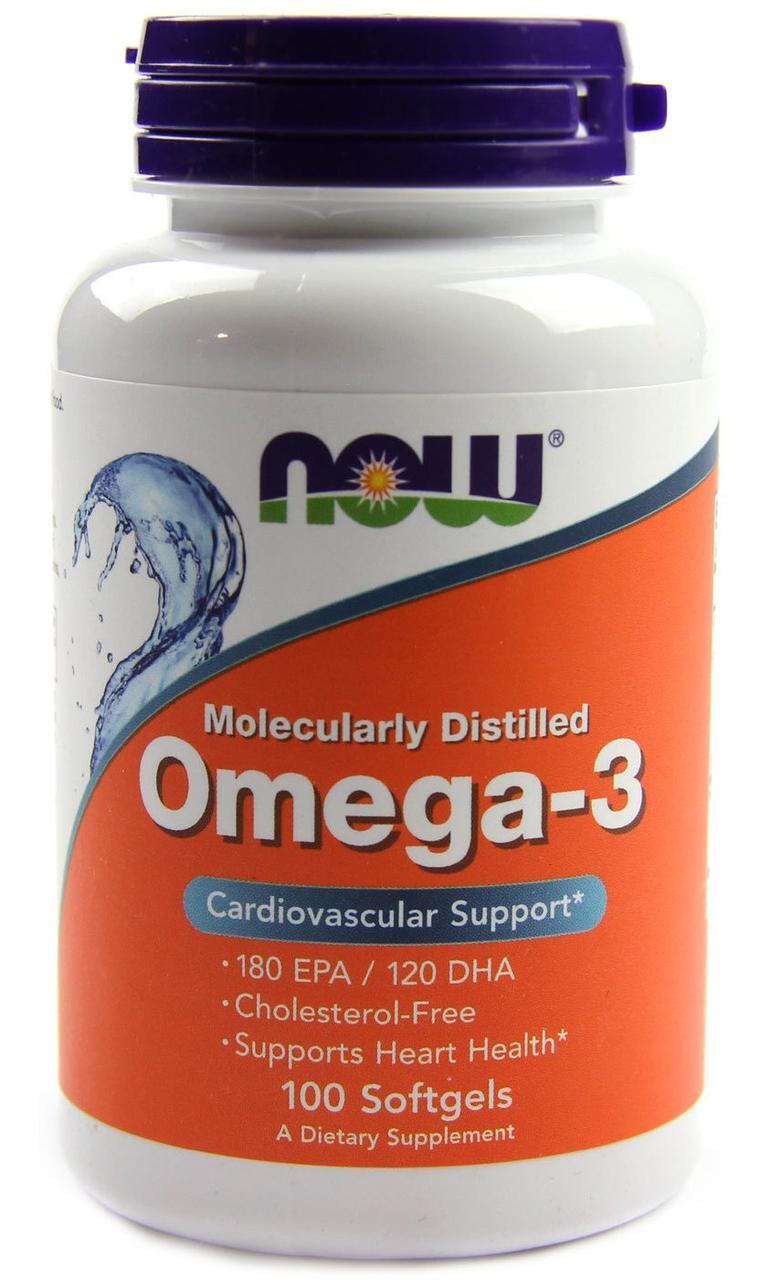 Омега NOW Omega 3 1000mg 100softgels