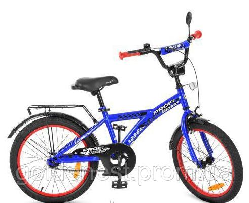 Велосипед детский Prof1 Racer  T2033 синий