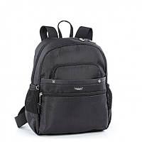 Рюкзак женский маленький черный тканевый городской молодежный с карманом под планшет Dolly 376