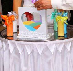 Песочная церемония – как символ соединения любящих сердец