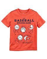 Детская летняя оранжевая футболка Баскетбол Carters для мальчика
